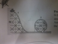 In the roller coaster shown, the cars travel at