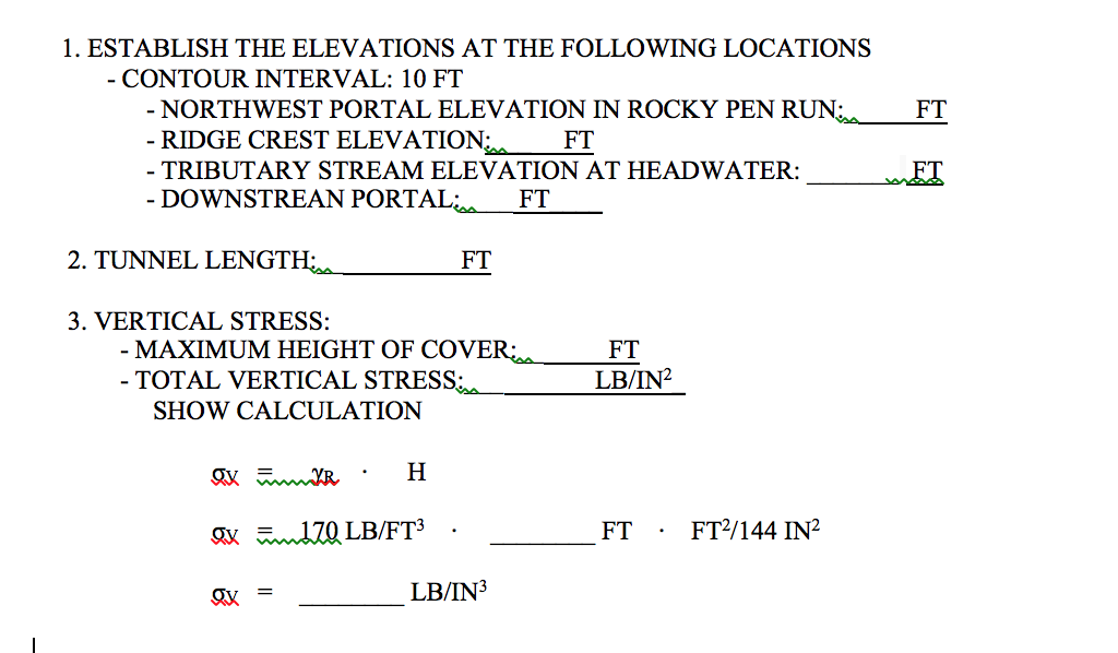 Establish The Elevations At The Following Location Cheggcom - Elevation locations