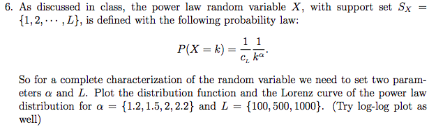 6 as discussed in class the power law random var chegg 6 as discussed in class the power law random variable x with support sciox Images