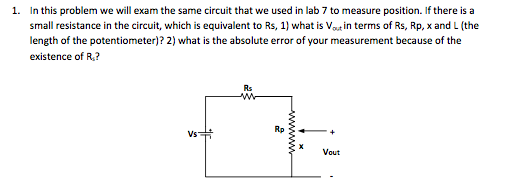 In this problem we will exam the same circuit that