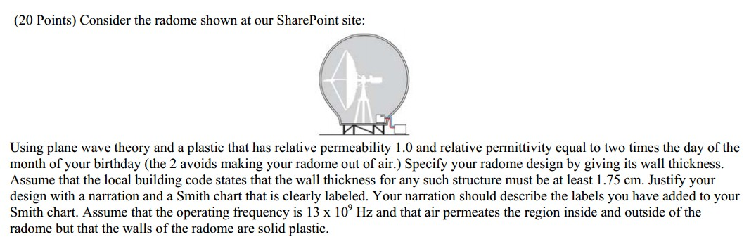Consider the radome shown at our SharePoint site: