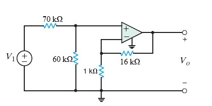 Find the voltage gain of the op-amp circuit shown