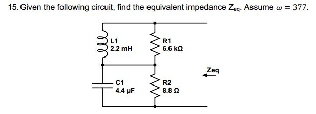 Given the following circuit, find the equivalent i