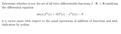 Determine whether or not the set of all twice diff