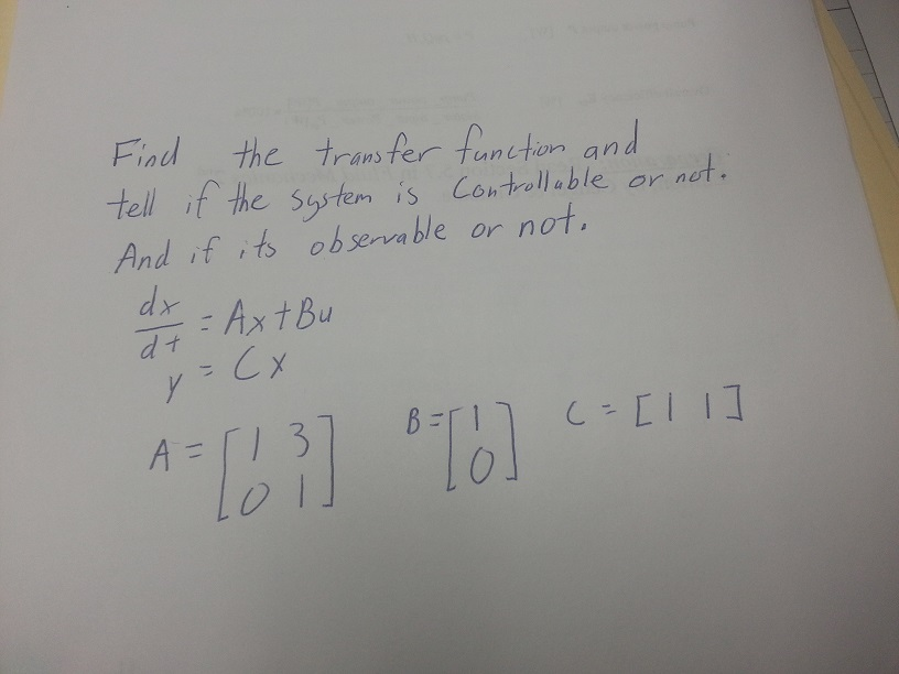 Find the transfer function and tell if the system