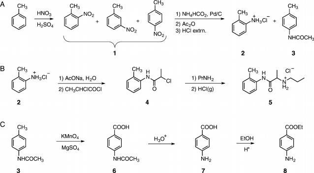 benzocaine synthesis mechanism Synthesis of benzocaine a introduction/aims: the aim of the current investigation is to investigate the acid-catalysed fischer esterification mechanism underlying.