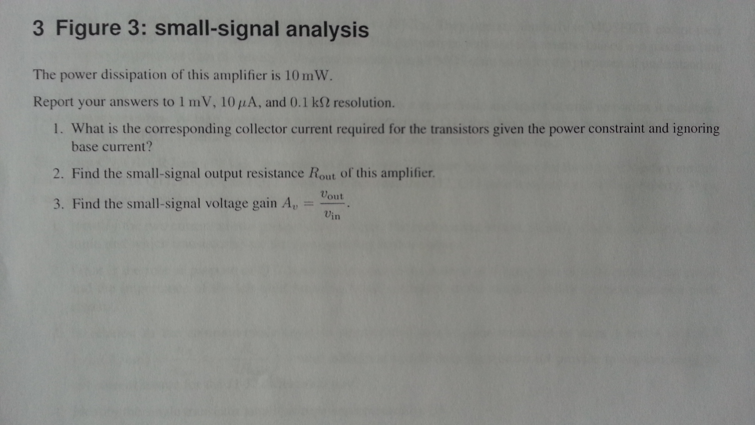 Figure 3: small-signal analysis The power dissipat