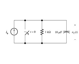 Consider the circuit shown in Figure below. Take i