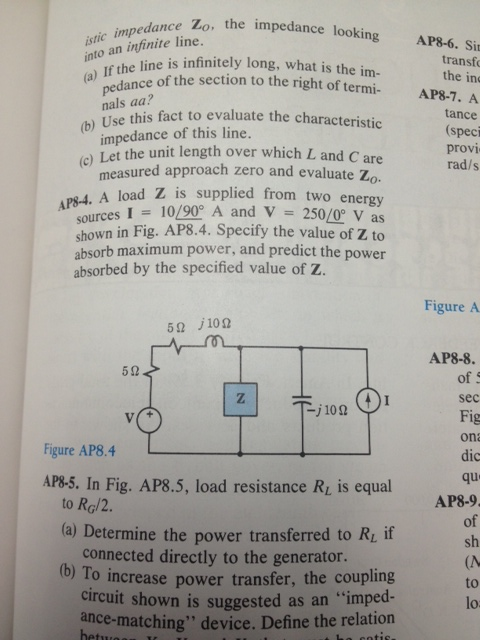 istic impedance Z0, the impedance looking into an