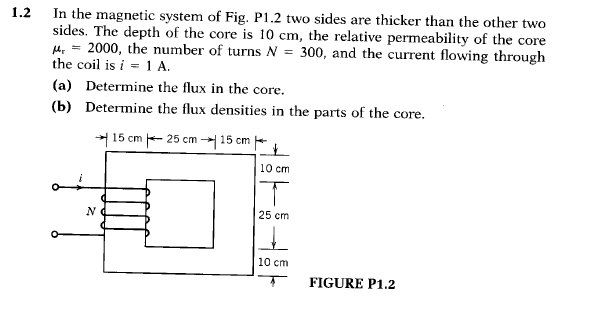 In the magnetic system of Fig. PI.2 two sides are