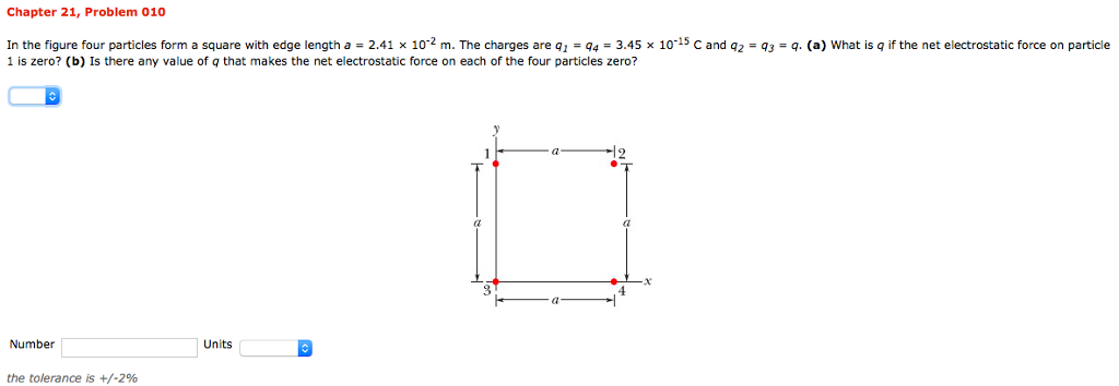 In The Figure Four Particles Form A Square With Ed... | Chegg.com