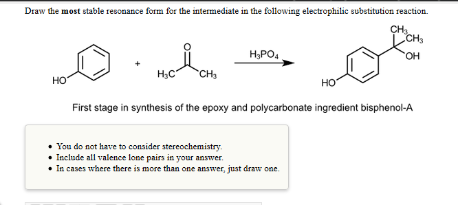 Draw The Most Stable Resonance Form For The Interm... | Chegg.com