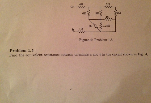 Find the equivalent resistance between terminals a
