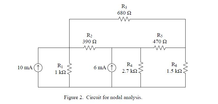Conduct a nodal analysis and determine the node vo