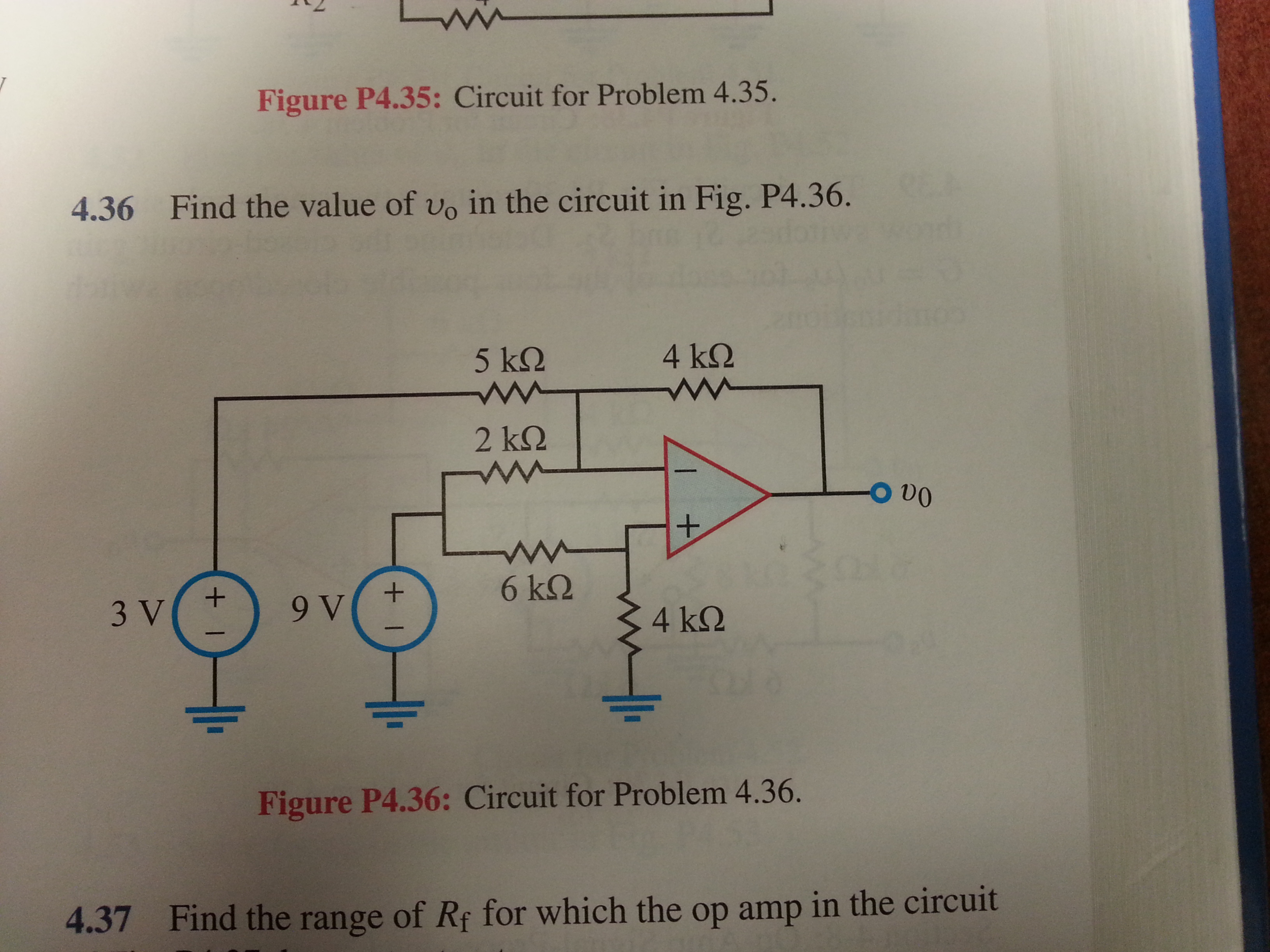 Find the value of v0 in the circuit in Fig. P4.36.