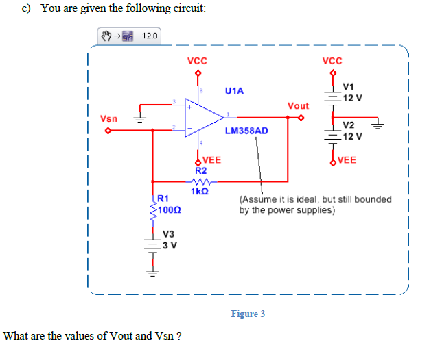 You are given the following circuit: What are the