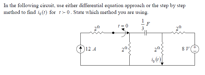 In the following circuit, use either differential