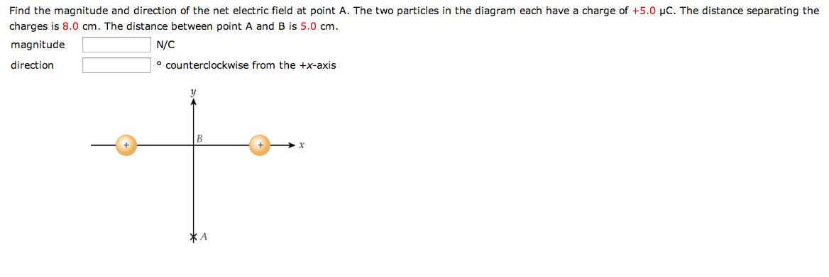 find the magnitude and direction of the net electr