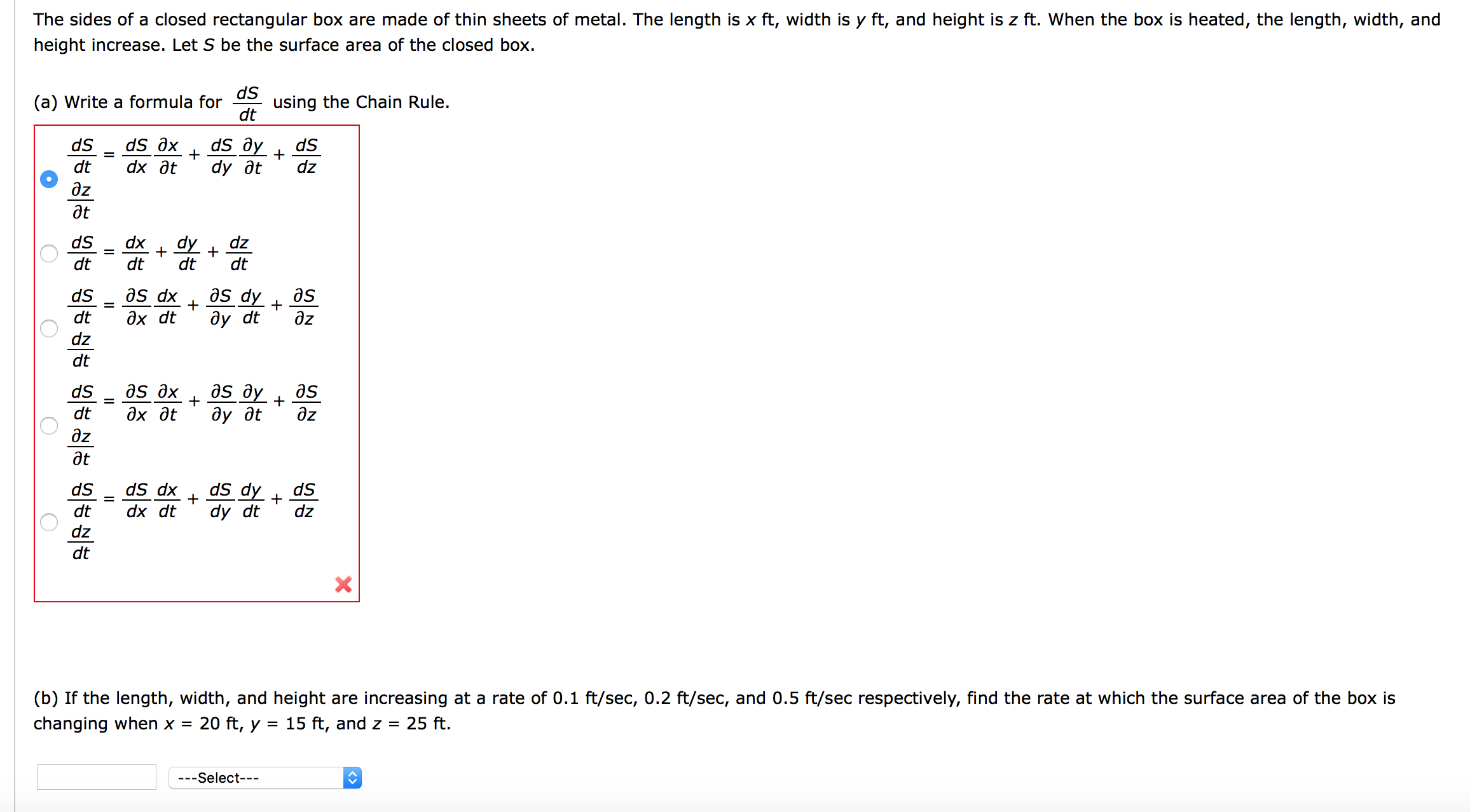 Question: The Sides Of A Closed Rectangular Box Are Made Of Calculating The Surface  Area