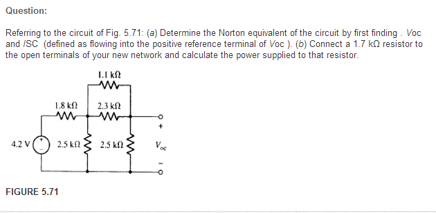 Question: Referring to the circuit of Fig. 5.71: