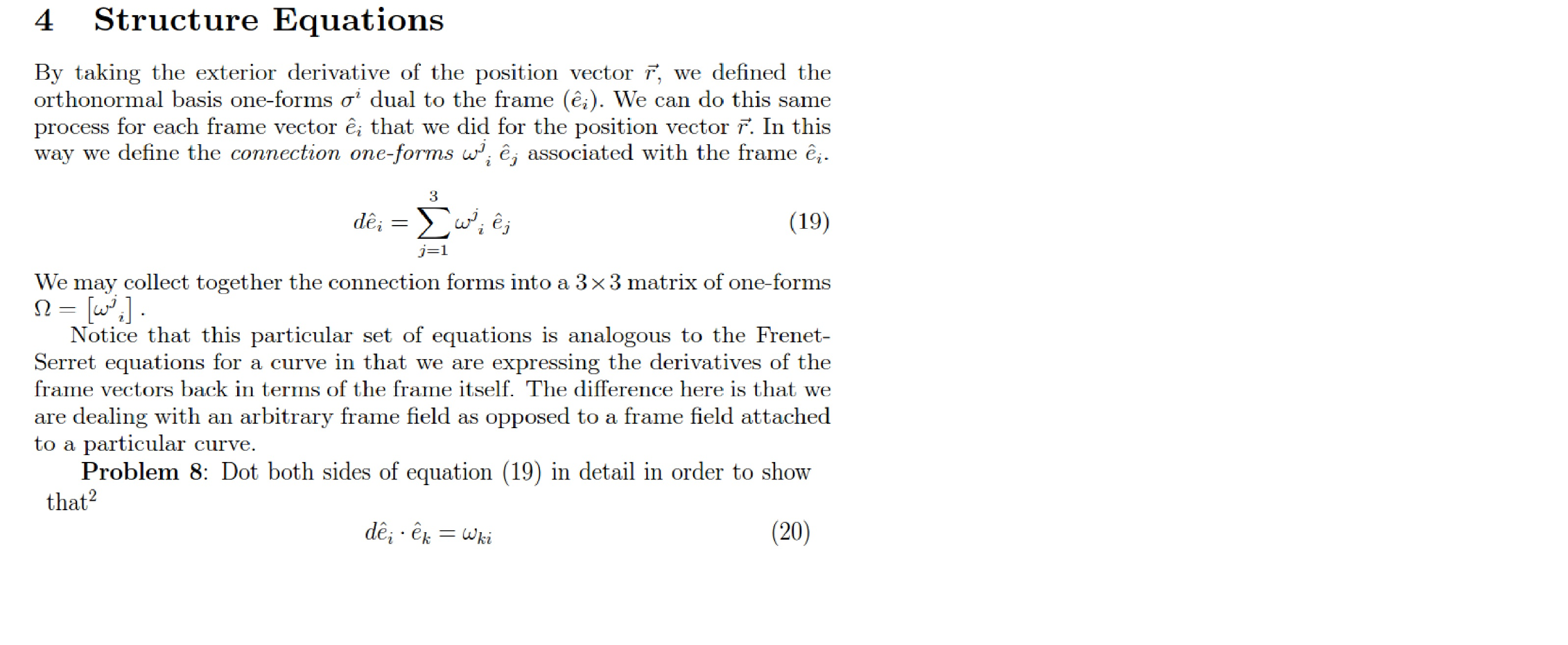 High Quality By Taking The Exterior Derivative Of The Position