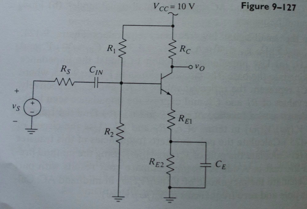 Consider the circuit of Figure 9-127. Draw the hig