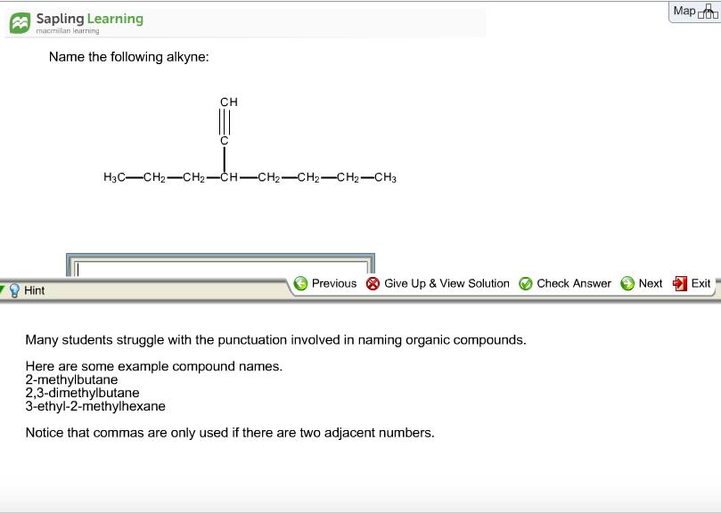 sapling learning answers organic chemistry pdf
