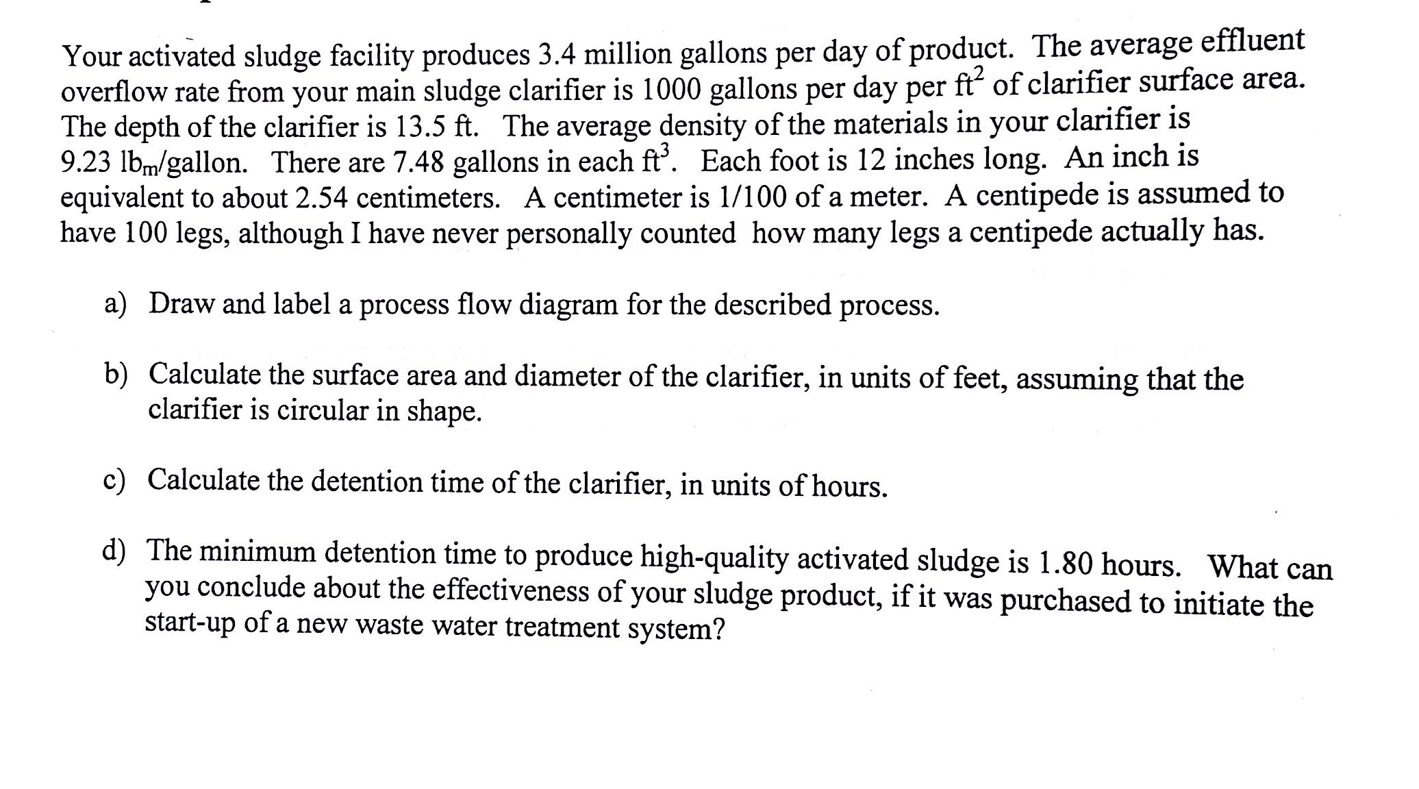Your activated sludge facility produces 34 millio chegg question your activated sludge facility produces 34 million gallons per day of product the average efflu pooptronica Images