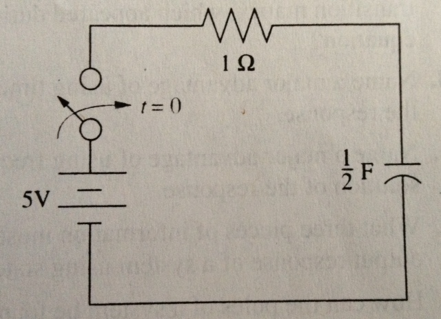 Find the capacitor voltage in the network shown in