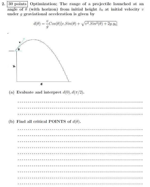 Calculus homework help optimization