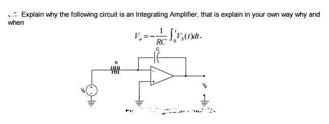 Solved: Explain Why The Following Circuits Is An Integrati ...