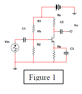 In Figure 1, Vcc=10V, VB=5V, VBE=0.7V, Vce(sat)=0.