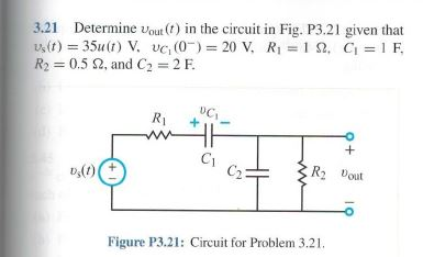 Determine vout (t) in the circuit in Fig. P3.21 gi