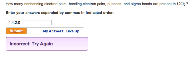 How many nonbonding electron pairs, bonding electr