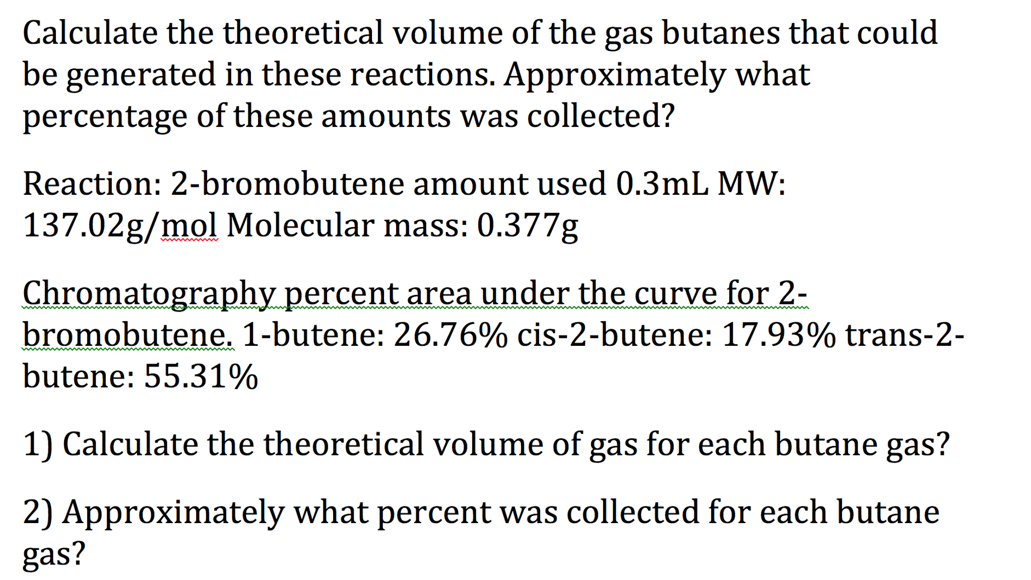 Calculate The Theoretical Volume Of The Gas Butane Download Image How To  Calculate Gpa Percentage