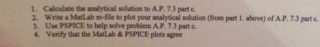Calculate the analytical solution to A.P. 7.3 part