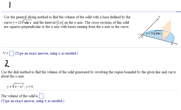 Use the general slicing method to find the volume chegg use the general slicing method to find the volume ccuart Gallery