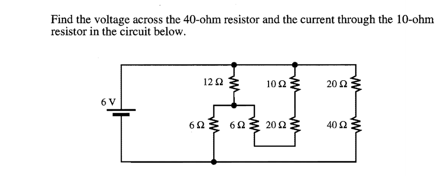Finding Resistance In Circuit Ohmmeter : Solved find the voltage across ohm resistor and th