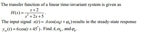 The transfer function of a linear time-invariant s