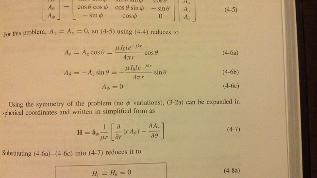 For this problem, Ax = Ay = 0, so (4-5) using (4