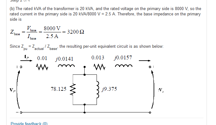 The rated kVA of the transformer is 20 kVA, and th