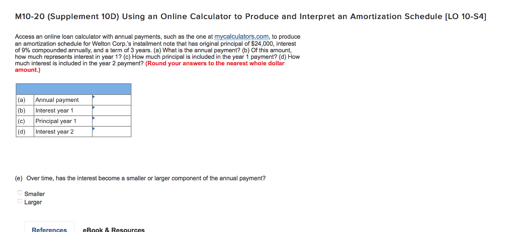 annual amortization calculator