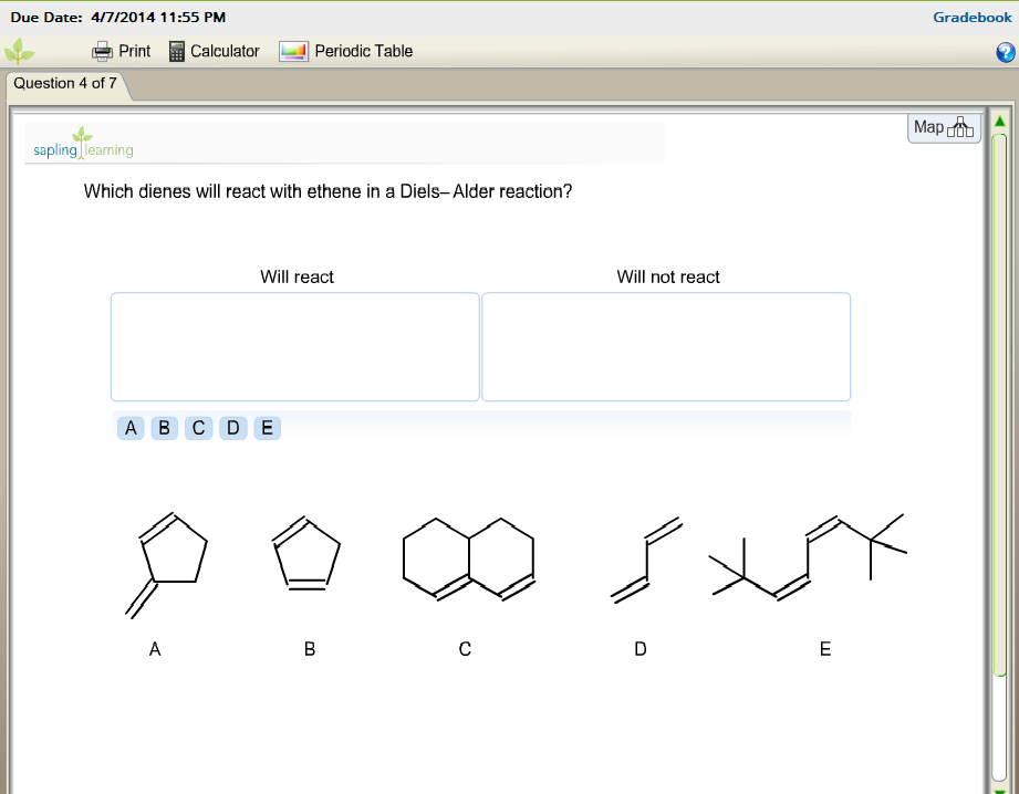 Which Dienes Will React With Ethene In A Diels A border=