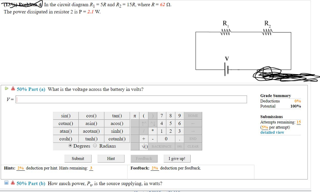 Solved in the circuit diagram ri 5r and r2 15r where r in the circuit diagram ri 5r and r2 15r where r 62 ccuart Choice Image