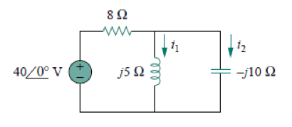 Calculate i1(t) and i2(t) in the circuit of the ci