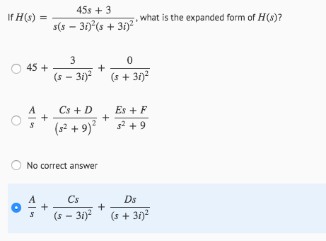 Solved 45s 3 If Hs What Is The Expanded Form Of H