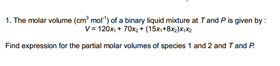 how to find molar volume with the slope
