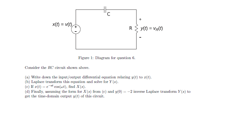 Figure 1: Diagram for question 6. Consider the RC
