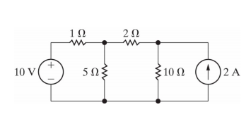 Determine the essential node voltages using the no