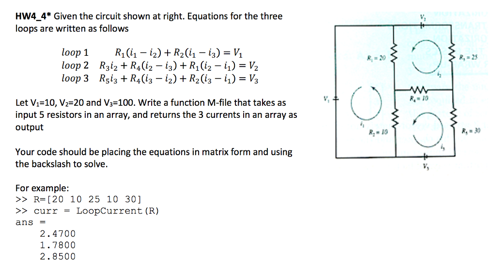 HW4 4* Given The Circuit Shown At Right. Equations... | Chegg.com